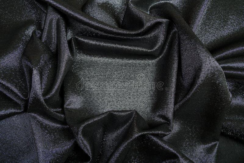 Ορθογώνιο πλαίσιο του μαύρου λαμπρού υφάσματος που ευθυγραμμίζεται στοκ φωτογραφία με δικαίωμα ελεύθερης χρήσης