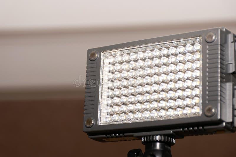 Ορθογώνιο φανάρι με LEDs Πρόσθετος φωτισμός για τα camcorders στοκ εικόνες