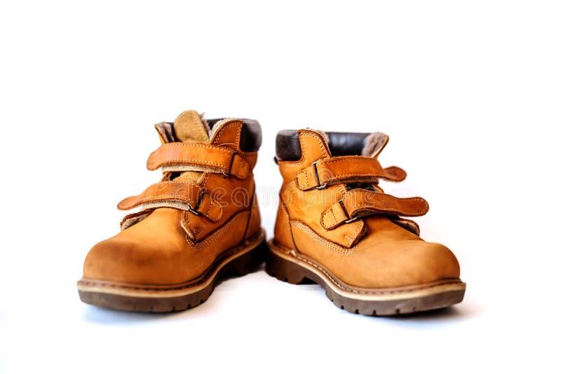 Ορθοπεδικές μπότες παιδιών για την πεζοπορία στοκ φωτογραφίες με δικαίωμα ελεύθερης χρήσης
