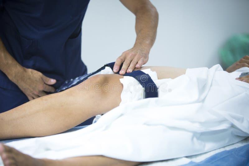 Ορθοπεδικό γόνατο χειρουργικών επεμβάσεων Traumatology arthroscopy στοκ φωτογραφίες με δικαίωμα ελεύθερης χρήσης