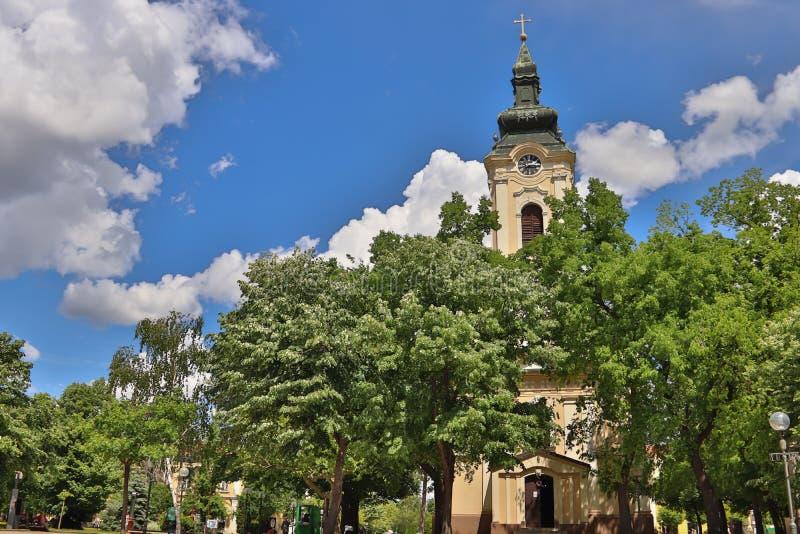 Ορθόδοξη Εκκλησία Αγίου Nicola σε Σέρβο: Το Crkva Svetog Nikole, κατασκεύασε το 1769 το έτος, στην πόλη Kikinda Vojvodina της Σερ στοκ φωτογραφίες με δικαίωμα ελεύθερης χρήσης