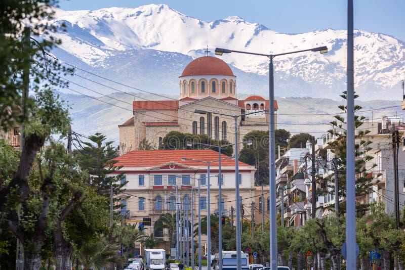 Ορθόδοξη Εκκλησία του ST Paul και Peter στην πόλη Chania στην Κρήτη, Ελλάδα στοκ φωτογραφίες με δικαίωμα ελεύθερης χρήσης