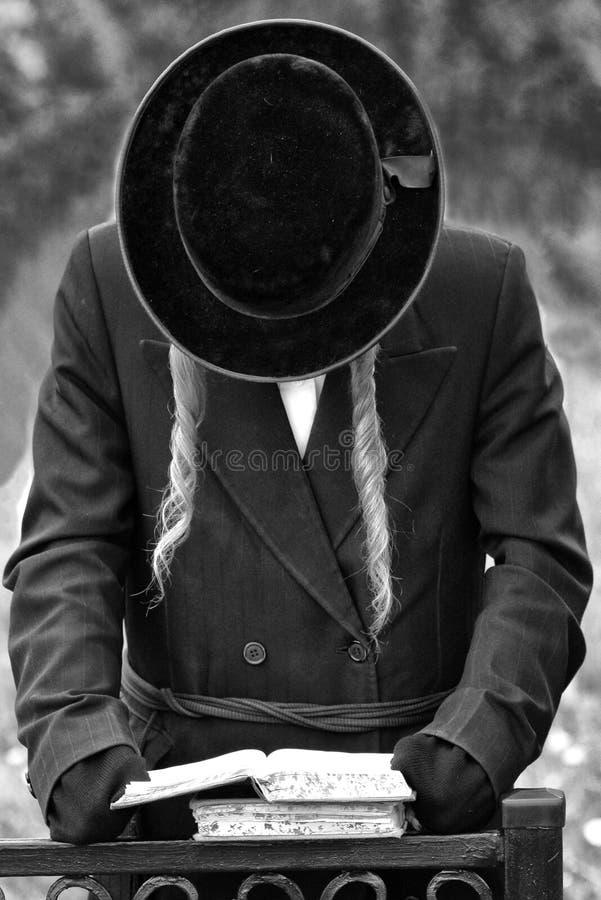 Ορθόδοξος εβραϊκός προσεύχεται, Εβραίοι, judaism, hasidim bw στοκ εικόνες