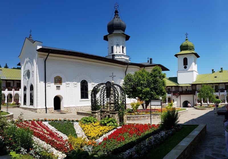 Ορθόδοξο μοναστήρι Agapia στη Ρουμανία που χτίζεται μεταξύ 1641-1643 στοκ εικόνες