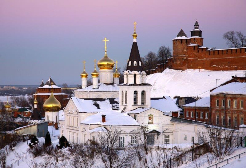 Ορθόδοξη Εκκλησία και Κρεμλίνο Nizhny Novgorod στοκ φωτογραφία