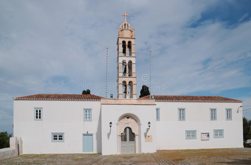 Ορθόδοξη Εκκλησία στο ελληνικό νησί στοκ εικόνα
