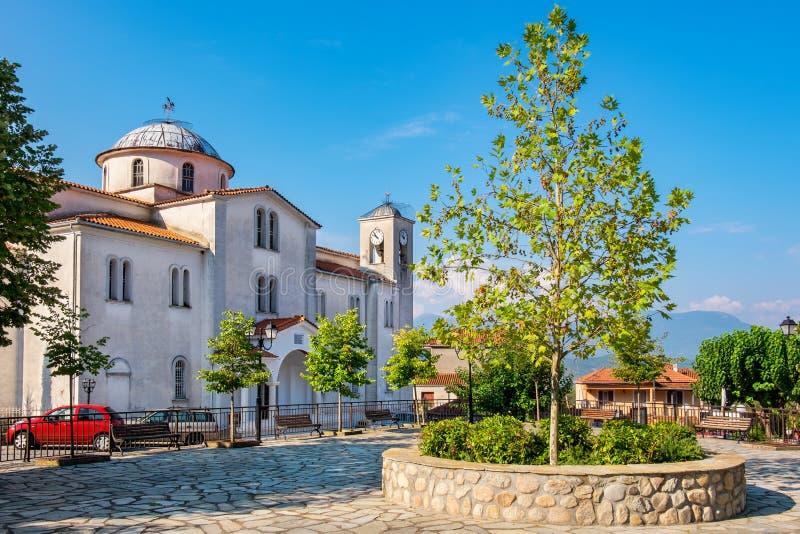 Ορθόδοξη Εκκλησία στο χωριό Kastraki Ελλάδα στοκ φωτογραφία