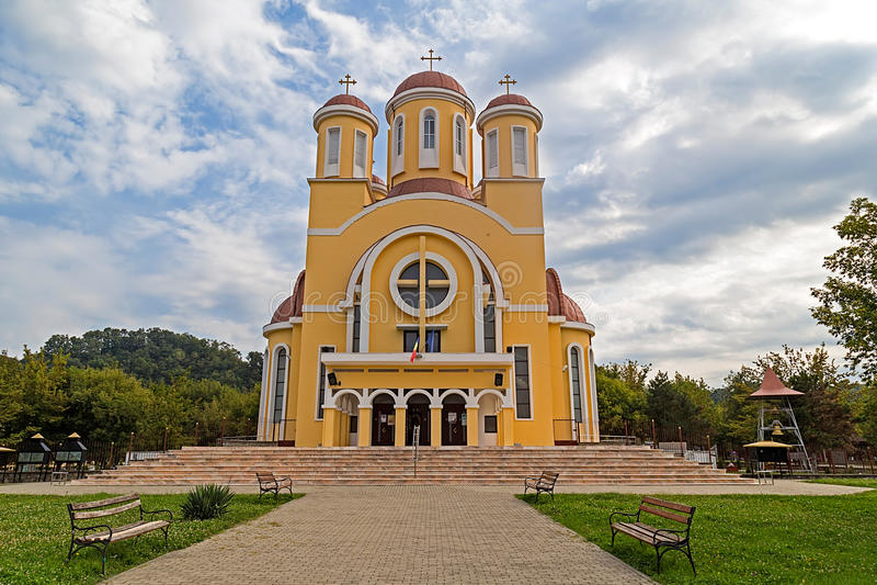Ορθόδοξος καθεδρικός ναός σε Resita, Ρουμανία στοκ εικόνες