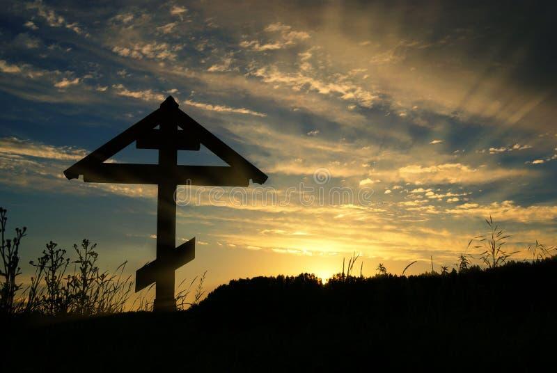 Ορθόδοξος σταυρός σε μια ομίχλη στοκ φωτογραφία με δικαίωμα ελεύθερης χρήσης