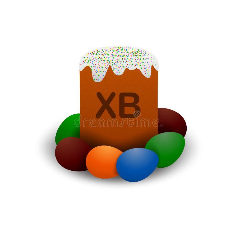 Ορθόδοξο διανυσματικό κέικ Πάσχας απεικόνιση αποθεμάτων