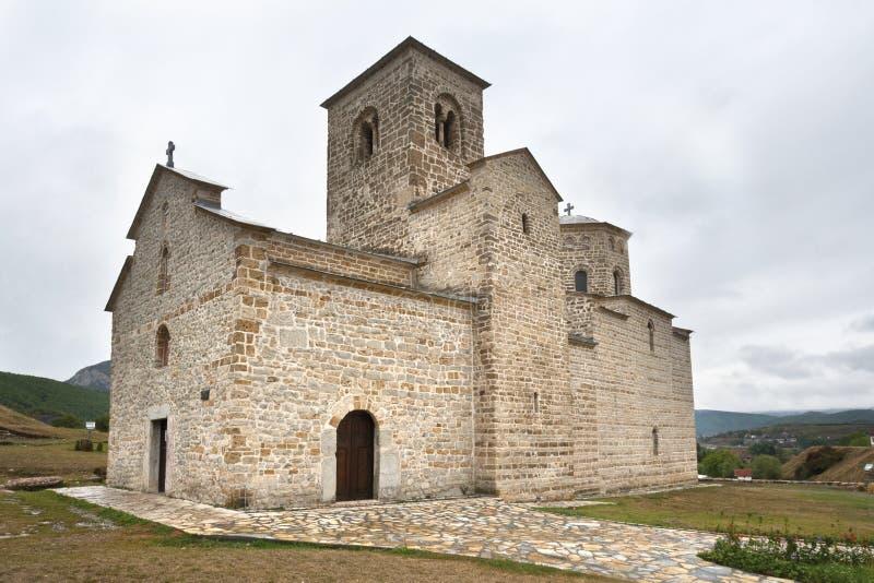 Ορθόδοξο μοναστήρι Djurdjevi Stupovi στοκ εικόνα