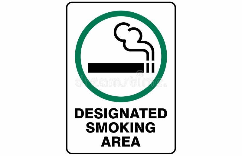 Οριζόμενο διάνυσμα σημαδιών συμβόλων περιοχής καπνίσματος ελεύθερη απεικόνιση δικαιώματος