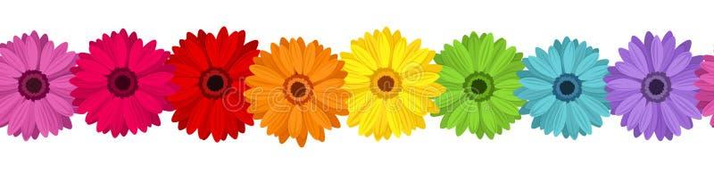 Οριζόντια άνευ ραφής ανασκόπηση με χρωματισμένος gerber ελεύθερη απεικόνιση δικαιώματος