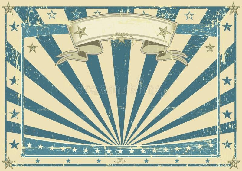 Οριζόντια αναδρομική μπλε αφίσα ελεύθερη απεικόνιση δικαιώματος