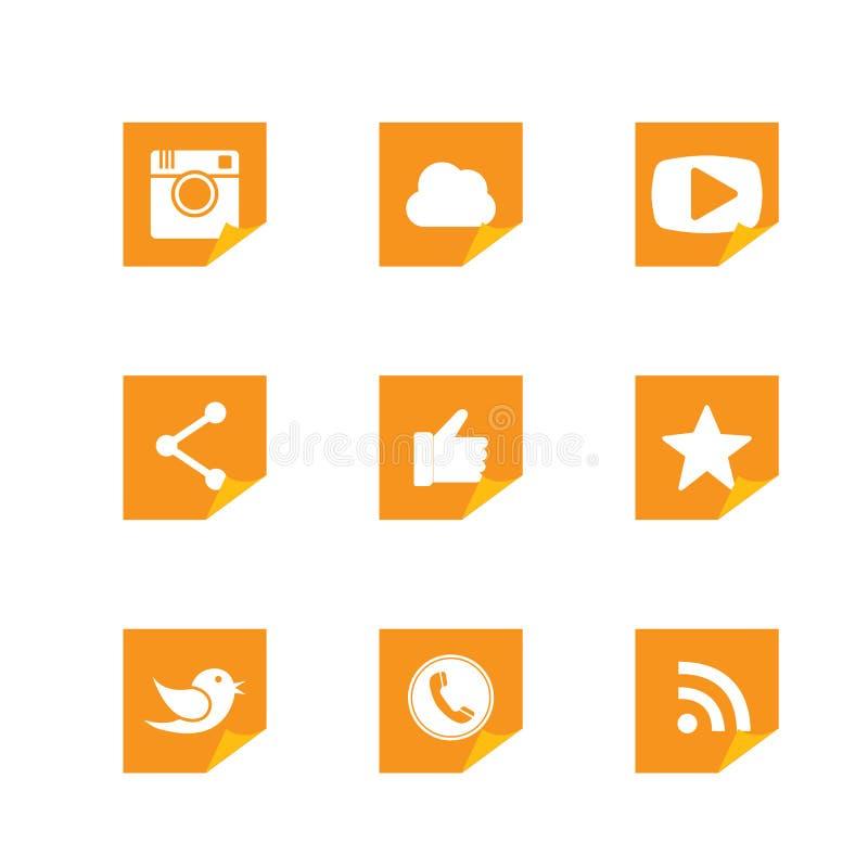 Οριζόντια γυρισμένα σχέδια κουμπιών εγγράφου της κάμερας, όπως, πουλί αγγελιοφόρων απεικόνιση αποθεμάτων