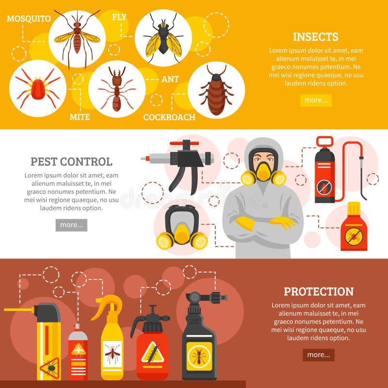 Οριζόντια εμβλήματα ελέγχου παρασίτων ελεύθερη απεικόνιση δικαιώματος