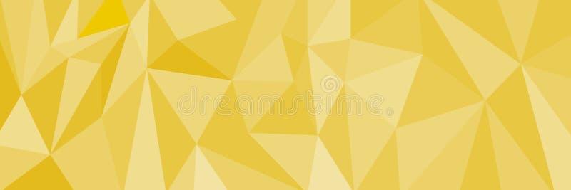 Οριζόντια κομψά polygonal χρυσά υπόβαθρο και σχέδιο, ι διανυσματική απεικόνιση