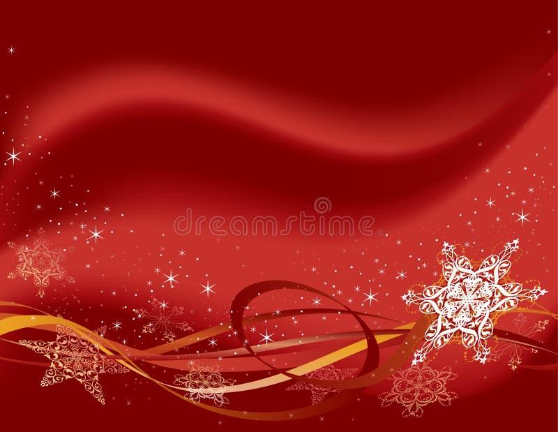 οριζόντια κόκκινα snowflakes διανυσματική απεικόνιση