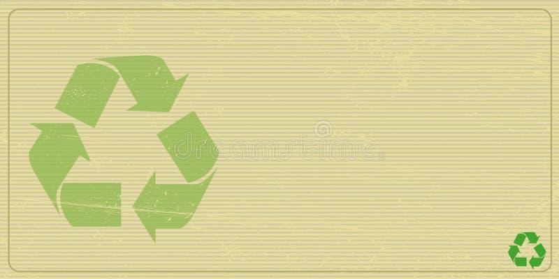 Οριζόντια πρόσκληση Recyclabe διανυσματική απεικόνιση