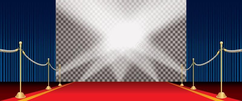 Οριζόντια σκηνική μπλε κουρτίνα ελεύθερη απεικόνιση δικαιώματος