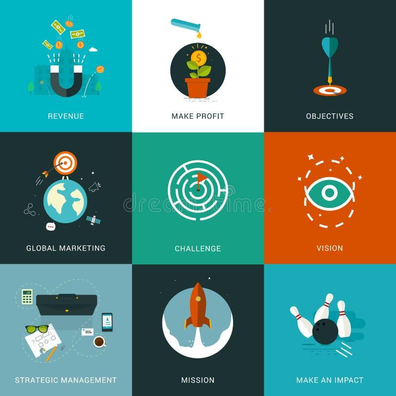 Οριζόντια σχεδιασμένες επιχειρησιακές έννοιες ελεύθερη απεικόνιση δικαιώματος