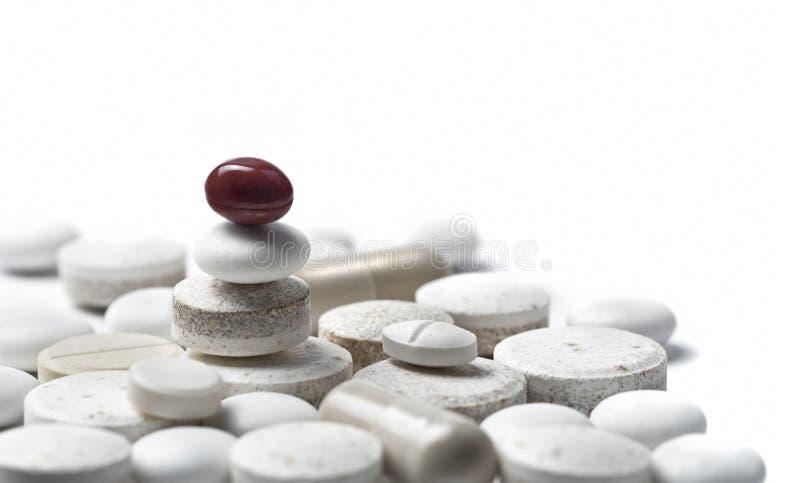 οριζόντια χάπια metaphore ισορροπί στοκ φωτογραφίες
