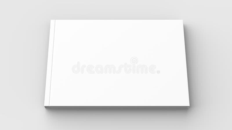 Οριζόντιος - φυλλάδιο τοπίων hardcover, βιβλίο ή χλεύη καταλόγων απεικόνιση αποθεμάτων