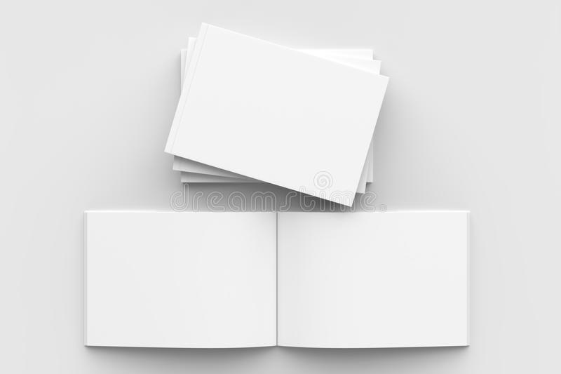 Οριζόντιος - φυλλάδιο τοπίων hardcover, βιβλίο ή χλεύη καταλόγων διανυσματική απεικόνιση