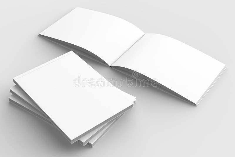 Οριζόντιος - φυλλάδιο τοπίων hardcover, βιβλίο ή χλεύη καταλόγων ελεύθερη απεικόνιση δικαιώματος