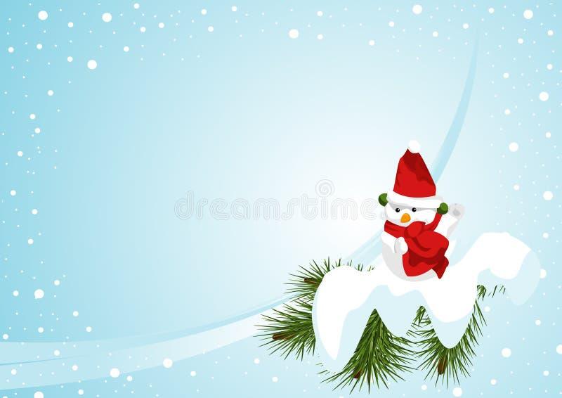 οριζόντιος χιονάνθρωπος ελεύθερη απεικόνιση δικαιώματος