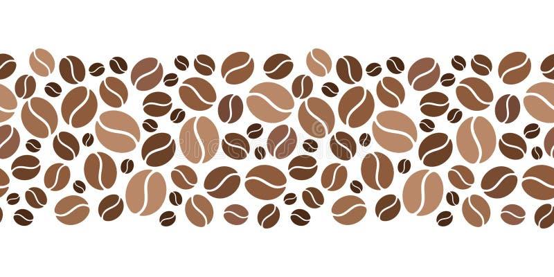 Οριζόντιο άνευ ραφής υπόβαθρο με τα φασόλια καφέ επίσης corel σύρετε το διάνυσμα απεικόνισης ελεύθερη απεικόνιση δικαιώματος