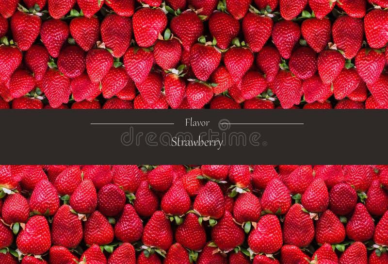 Οριζόντιο έμβλημα πολλών ώριμων strawberrys Η έννοια των υγιών τροφίμων στοκ φωτογραφία με δικαίωμα ελεύθερης χρήσης