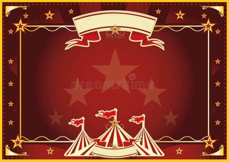 Οριζόντιο κόκκινο μαγικό τσίρκο στοκ εικόνα με δικαίωμα ελεύθερης χρήσης