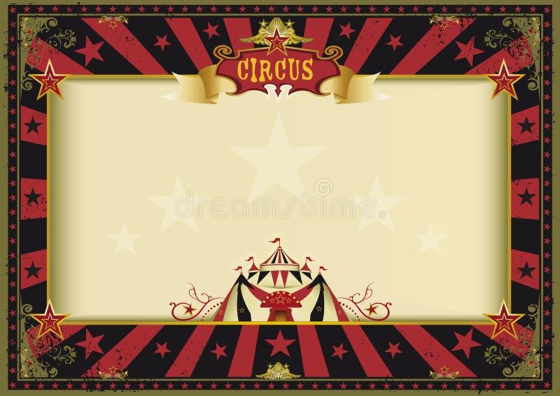 Οριζόντιο κόκκινο μαύρο τσίρκο αφισών διανυσματική απεικόνιση