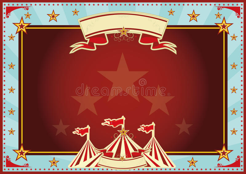 Οριζόντιο μπλε και κόκκινο τσίρκο ηλιαχτίδων στοκ φωτογραφία με δικαίωμα ελεύθερης χρήσης
