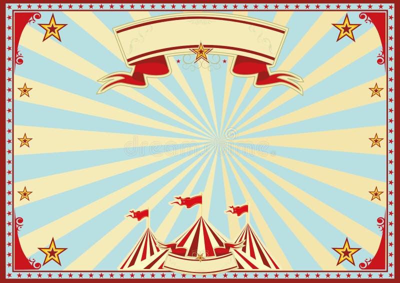 Οριζόντιο μπλε τσίρκο ηλιαχτίδων στοκ φωτογραφία με δικαίωμα ελεύθερης χρήσης