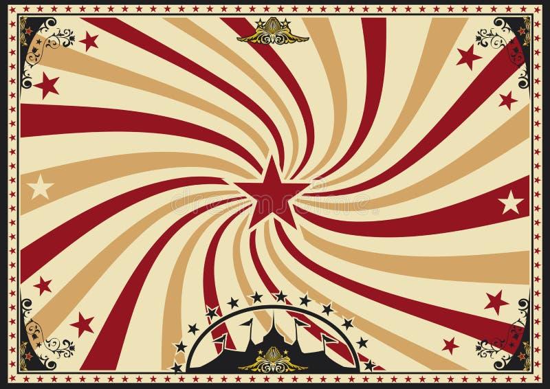 Οριζόντιο τσίρκο ηλιαχτίδων δίνης αφισών ελεύθερη απεικόνιση δικαιώματος