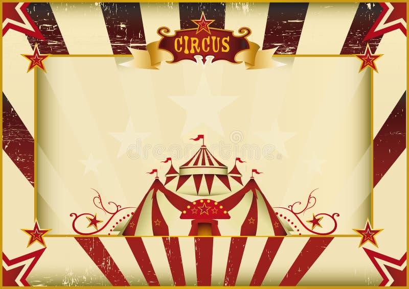 Οριζόντιο τσίρκο grunge διανυσματική απεικόνιση
