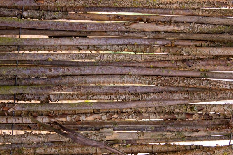 Οριζόντιο υπόβαθρο των παλαιών ξηρών ξύλινων κλάδων στοκ φωτογραφία με δικαίωμα ελεύθερης χρήσης