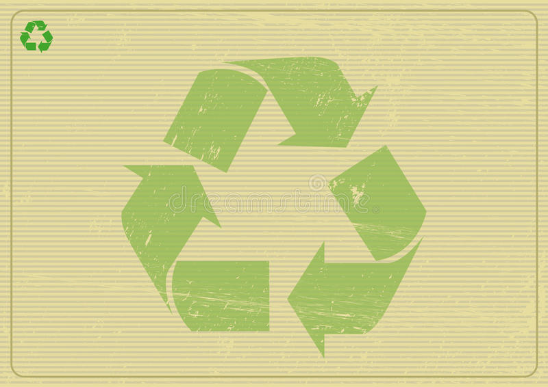 Οριζόντιο υπόβαθρο Recyclabe διανυσματική απεικόνιση