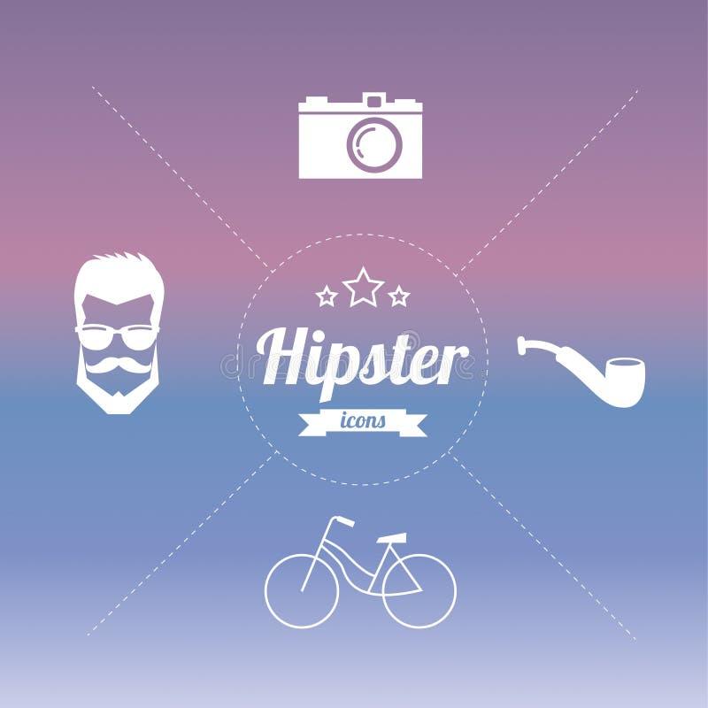 Ορισμένα τρύγος εικονίδια σχεδίου hipster διανυσματική απεικόνιση