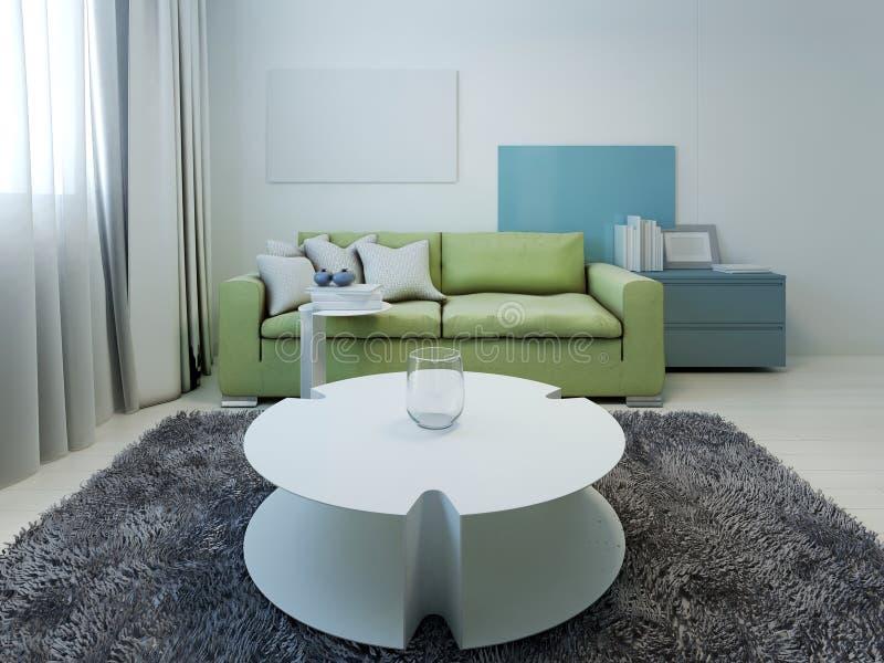 Ορισμένο κιτς σαλόνι με τους άσπρους τοίχους στοκ φωτογραφία με δικαίωμα ελεύθερης χρήσης