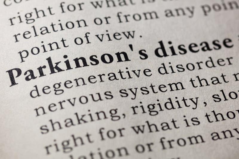 Ορισμός Parkinson ` s της ασθένειας στοκ εικόνα με δικαίωμα ελεύθερης χρήσης
