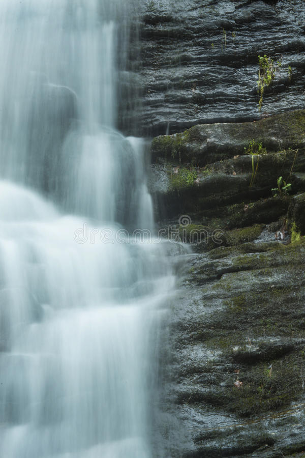 Ορμώντας νερό μέσα στις πτώσεις ξυλουργών ` s σε Granby, Κοννέκτικατ στοκ εικόνες
