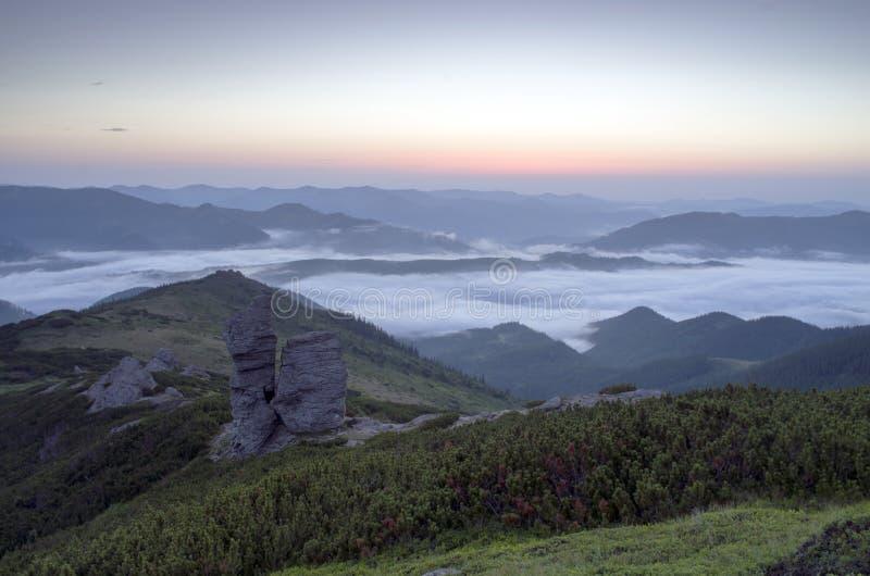 Οροπέδιο βουνών στοκ εικόνες
