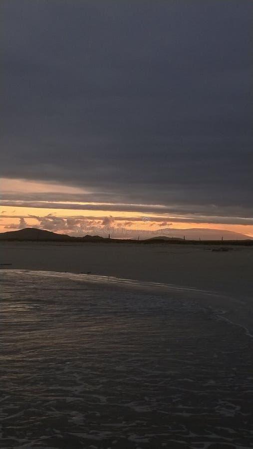 Οροσειρά ηλιοβασίλεμα Negra στοκ φωτογραφία
