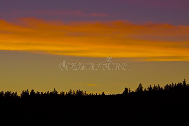 Οροσειρά ηλιοβασίλεμα στοκ φωτογραφίες με δικαίωμα ελεύθερης χρήσης