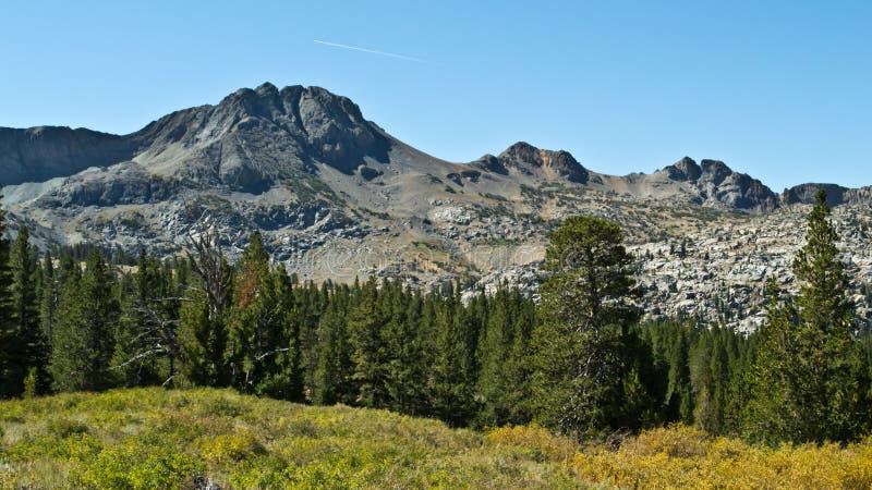 Οροσειρά Νεβάδα στο πέρασμα του Carson στοκ εικόνα με δικαίωμα ελεύθερης χρήσης