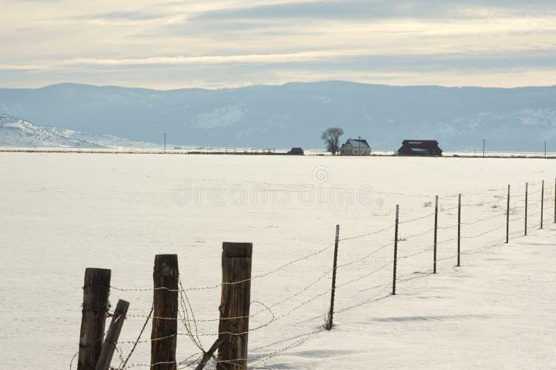 οροσειρά χειμώνας αγρο&kap στοκ εικόνα