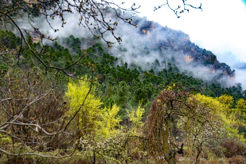 Οροσειρά del Segura Albacete, Espain Μικρό, ζωηρόχρωμο και γραφικό χωριό στην όμορφη οροσειρά del Segura, Albacete, Ισπανία στοκ φωτογραφία με δικαίωμα ελεύθερης χρήσης